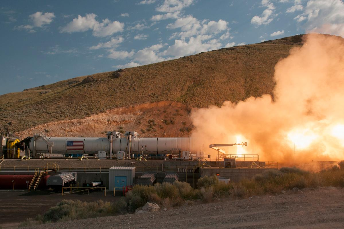 The second and final booster test for NASA's Space Launch System (SLS) was completed successfully at Orbital ATK facilities in Promontory, Utah