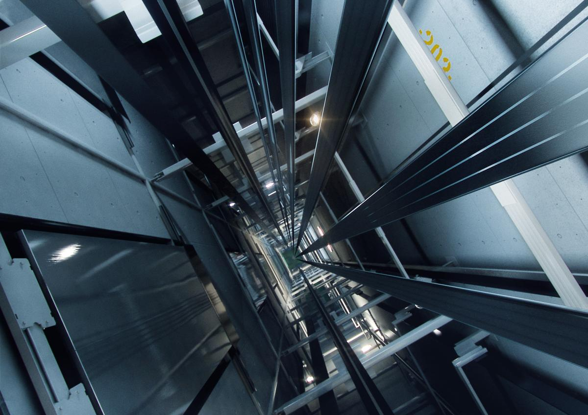 A new lightweight hoisting line known as UltraRope could double the current maximum height reachable by elevators
