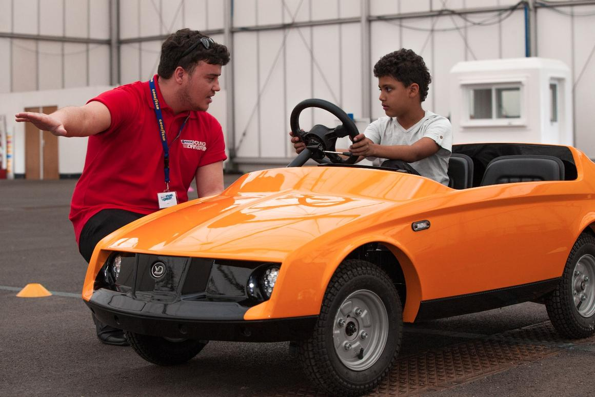 The Firefly is designed to teach kids as young as five to drive