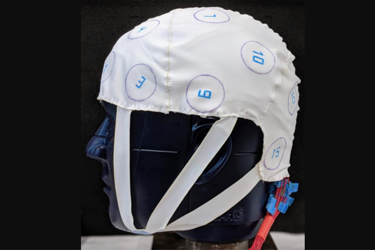 The prototype cap incorporates 16 pressure sensors