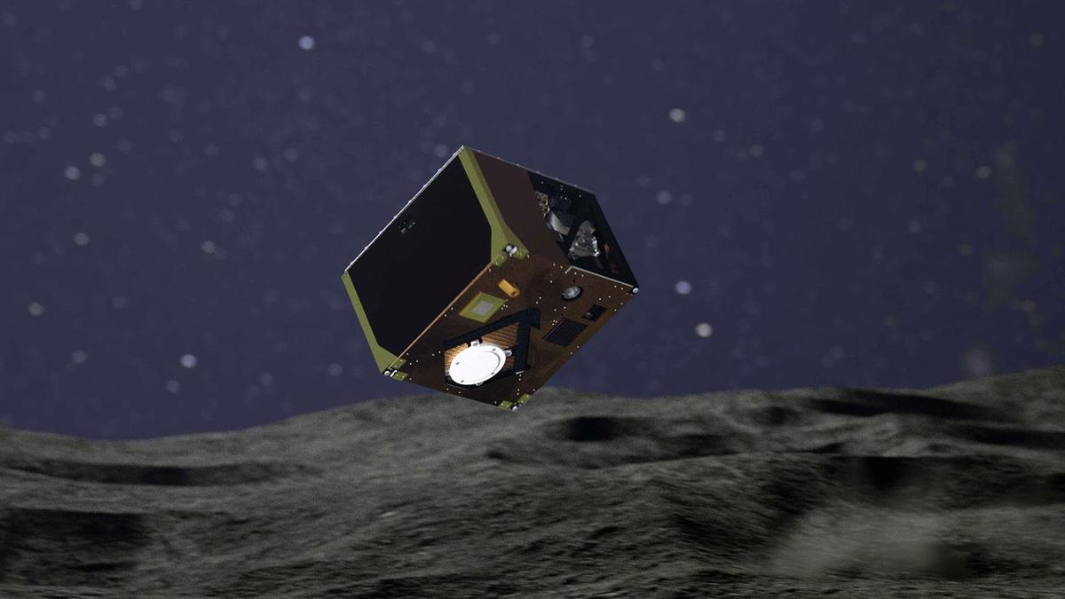 The MASCOT lander was ejected from the Hayabusa 2 spacecraft at an altitude of 51 m