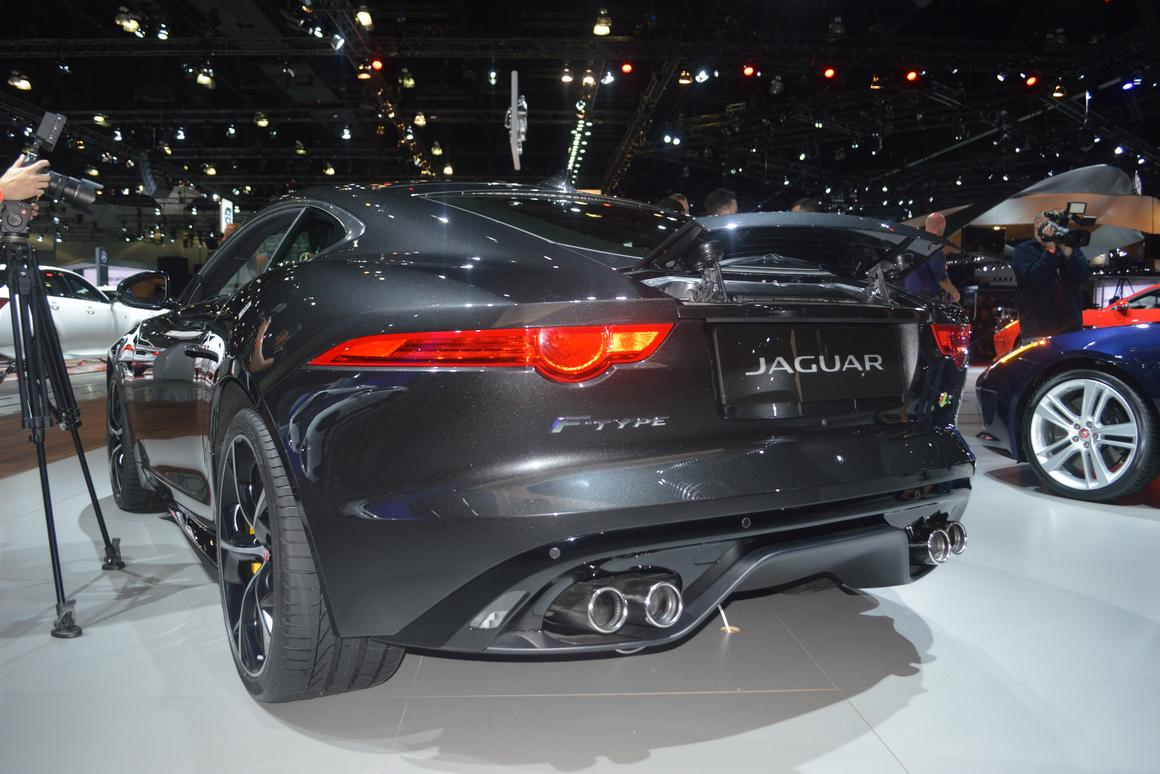 The F-Type Coupé with spolier deployed