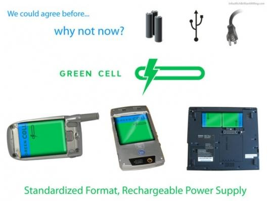 Green Cell battery concept design
