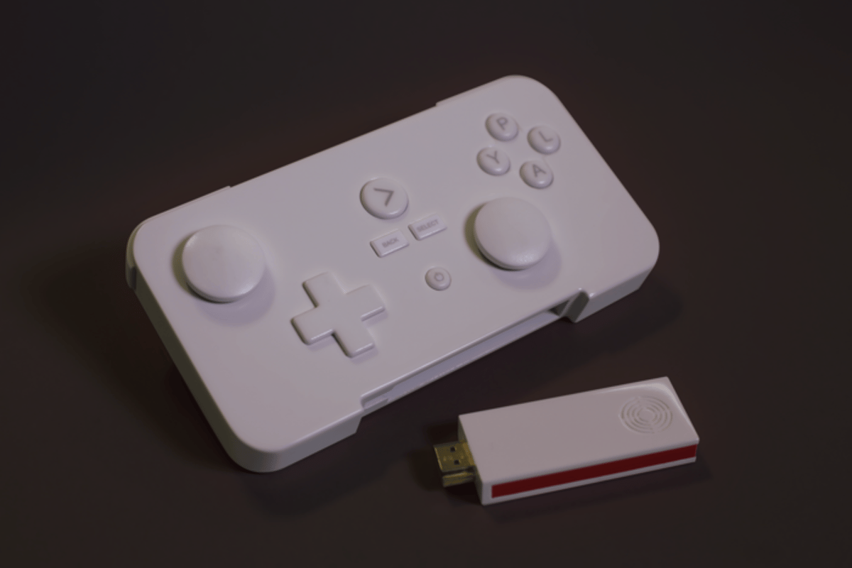 The GameStick is a tiny video game console