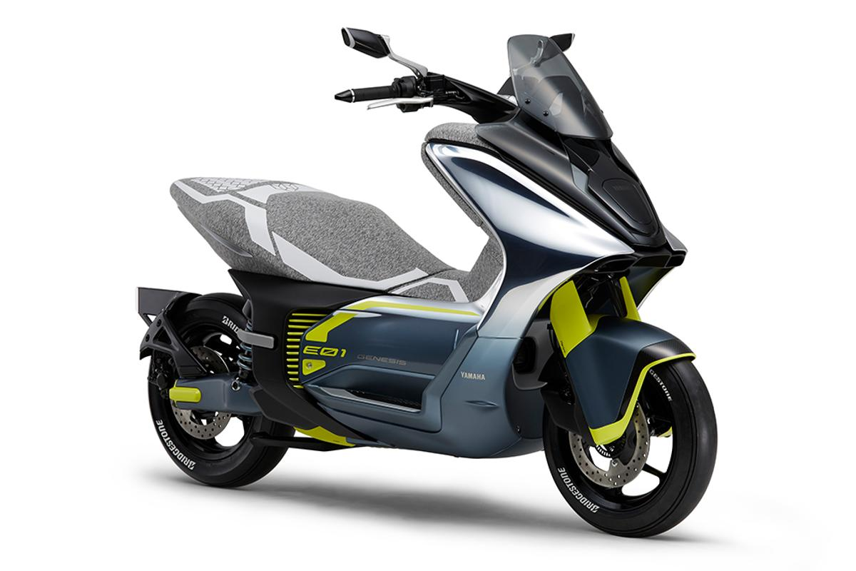 Yamaha is heading to the 46th Tokyo Motor Show with six world premieres, including the E01 electric scooter pictured