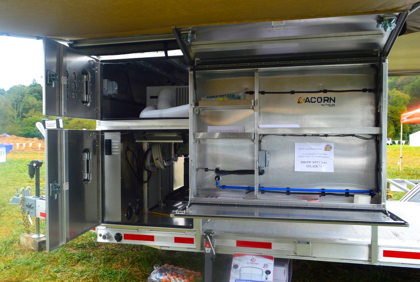 The Acorn's big aluminum boxesprovide plenty of workspace and storage