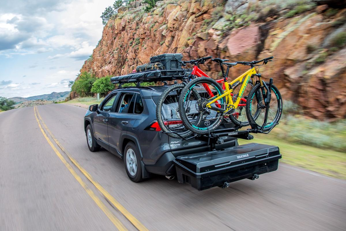 With available hitch storage like this, you might be able to trade in your pickup truck for a crossover