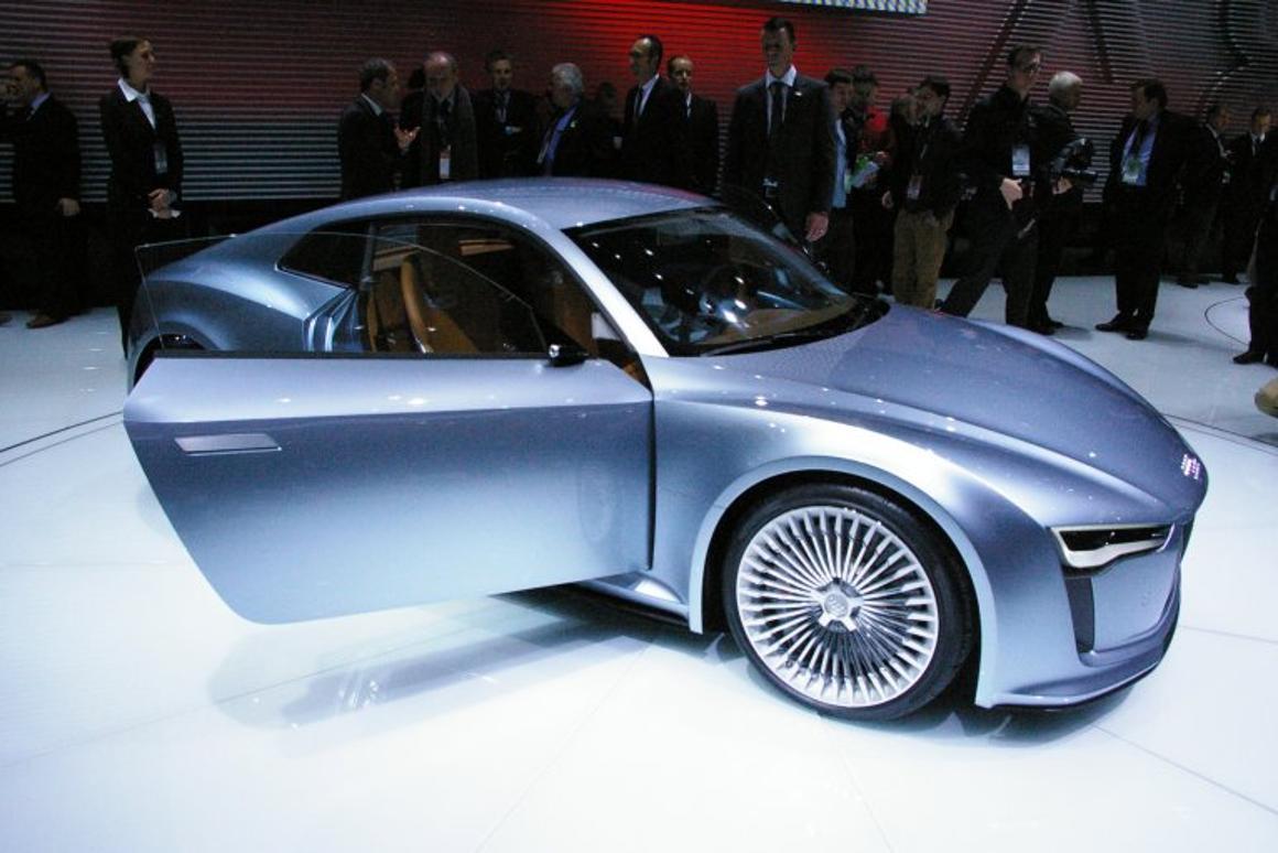 Audi's e-tron Detroit concept, at the 2010 Detroit Auto Show