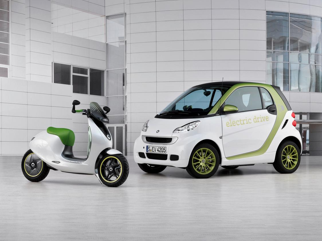 The smart fortwo electric drive and smart escooter