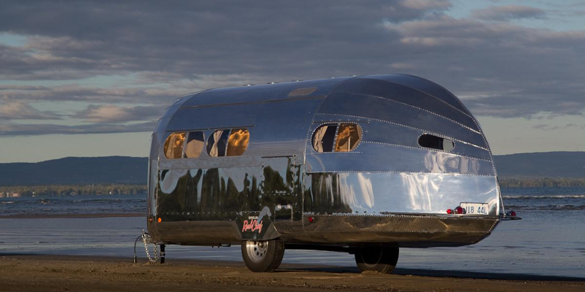 According to Bowlus, the new Road Chief is the world's most aerodynamic travel trailer