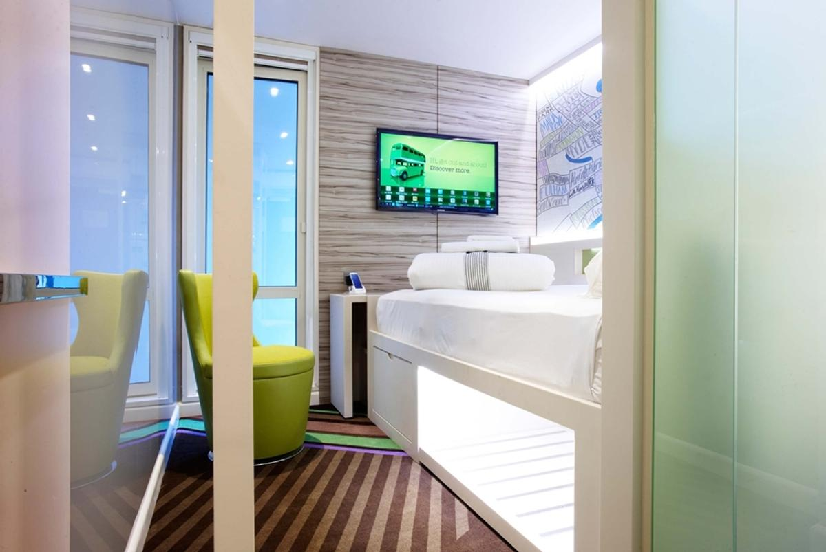 hub by Premier Inn is a new hotel chain that allows guests to search for rooms, book, check-in and control room facilities using a smartphone app