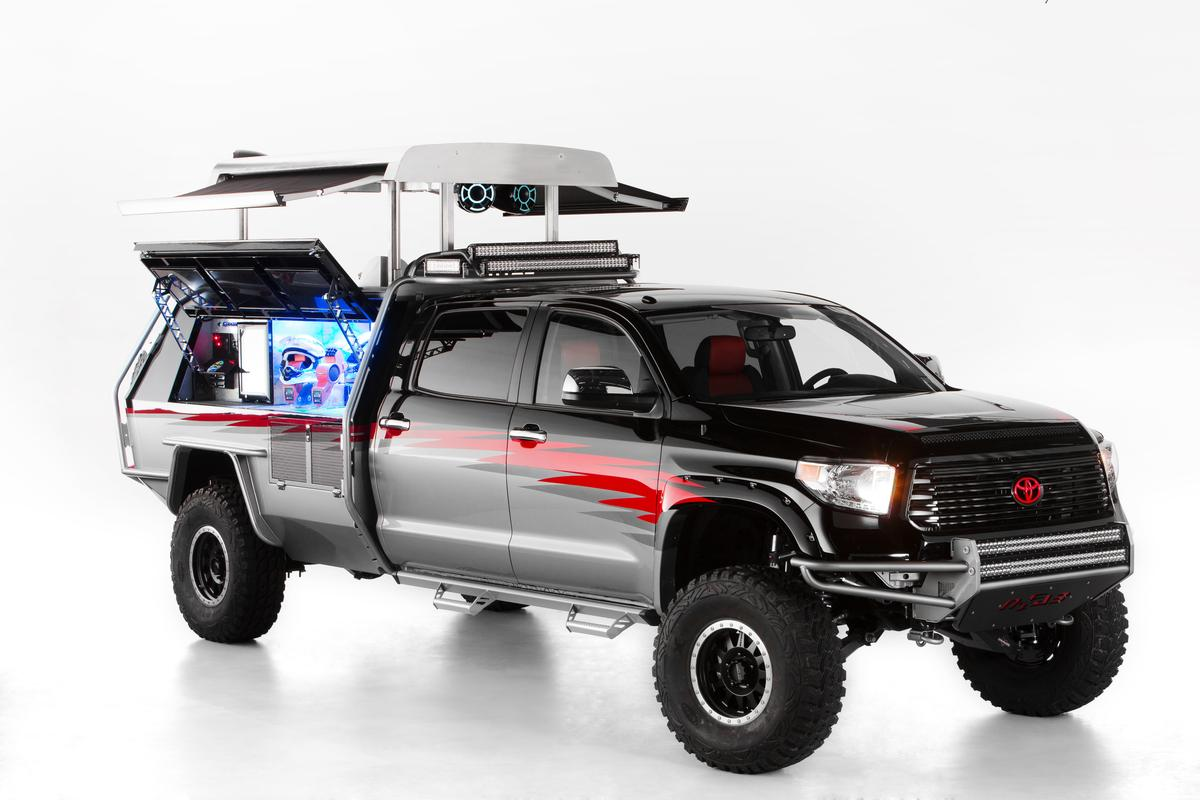 The Let's Go Moto Tundra took home first place in Toyota's Dream Build Challenge