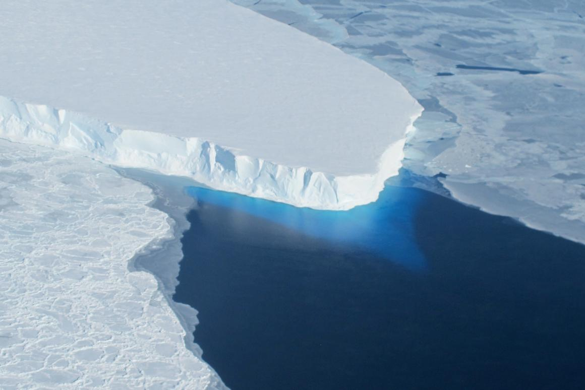 Thwaites Glacier in West Antarctica is one of the places hardest hit by ice loss