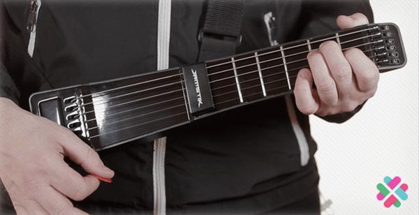 The JamStik is a compact digital guitar