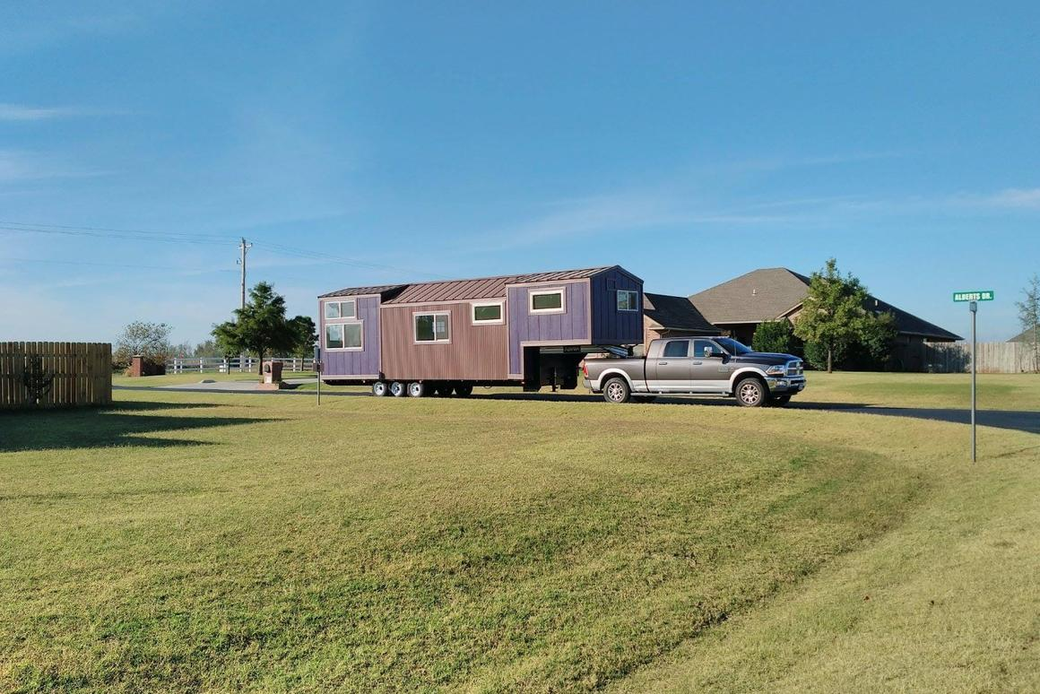 Purple people sleeper: this (not-so) tiny house serves as full-time home for a young family