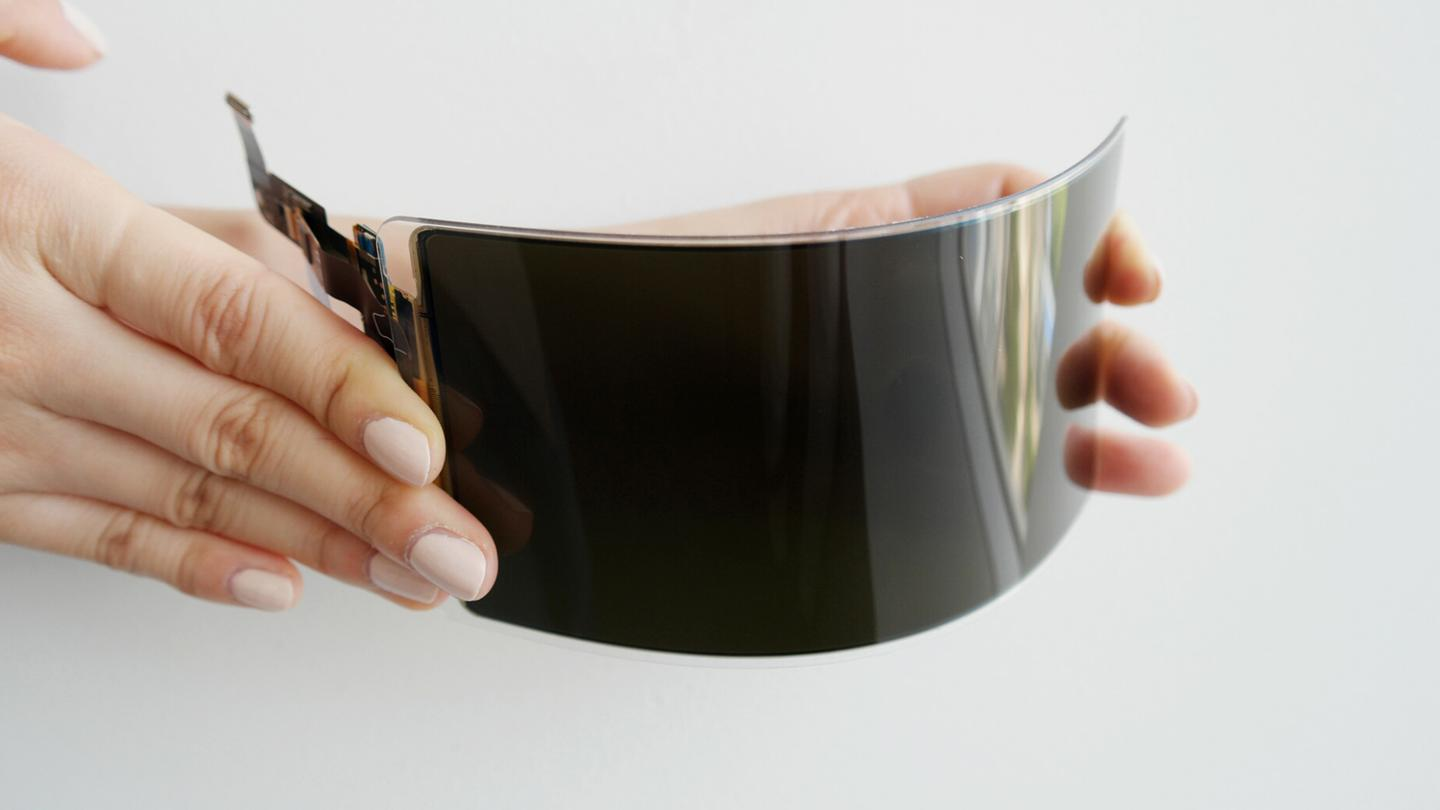 Samsung's new OLED panel ditches glass for a flexible plastic cover