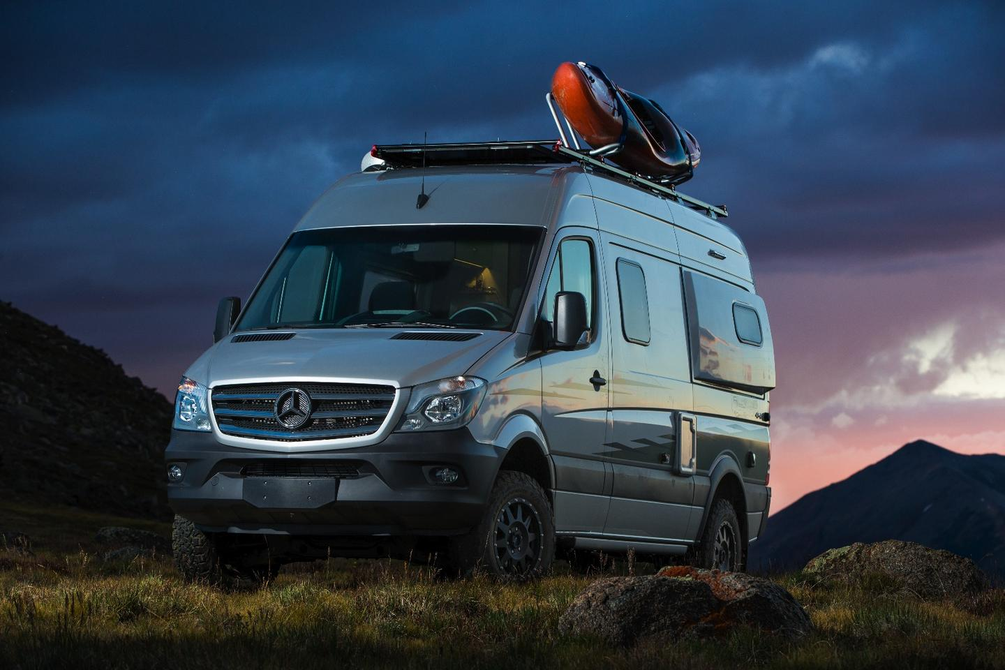 The new Winnebago Revel includes a luggage rack on the roof