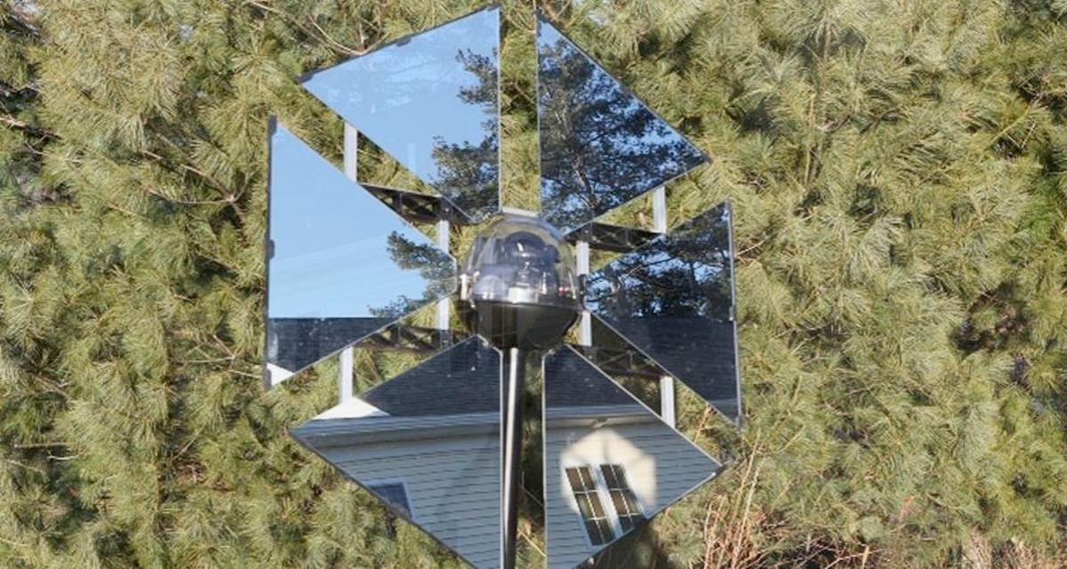 The Sunflower is a heliostat designed for residential use
