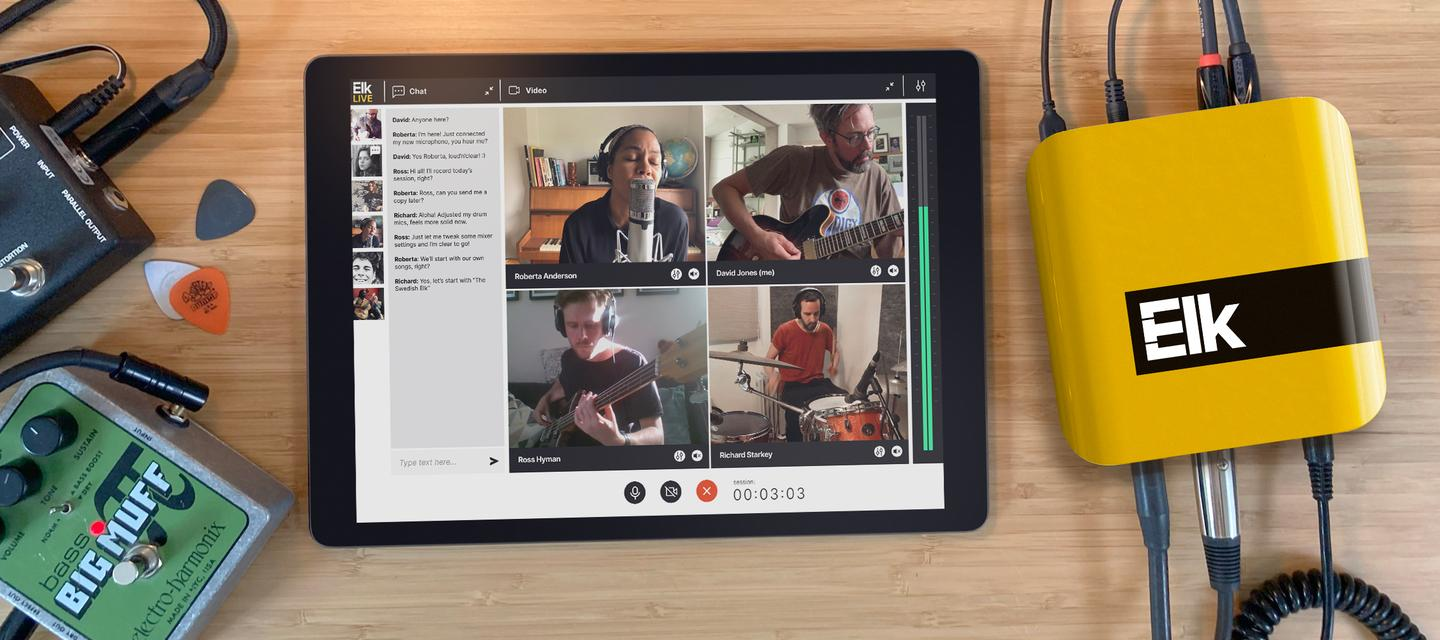 """Elk Live says that musicians can look forward to an """"in the same room"""" collaboration experience"""