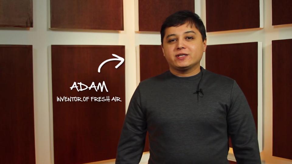 """""""Adam,"""" inventor of the Fresh Air Plus"""