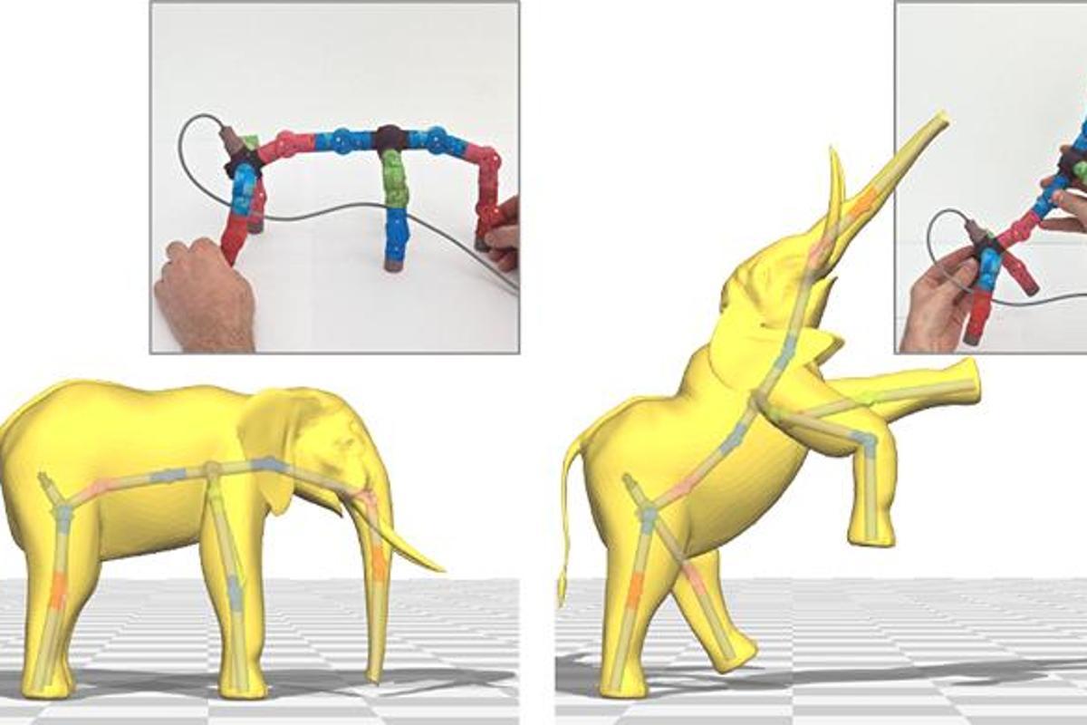 "3D animation software joystick ""input puppet"" (Image: Interactive Geometry Lab / ETH Zurich)"