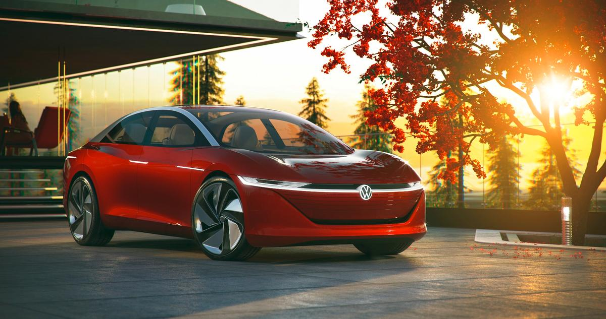 The VW I.D. Vizzion was unveiled in Geneva as a vision of what the upcoming I.D. family of advanced electric vehicles will look like