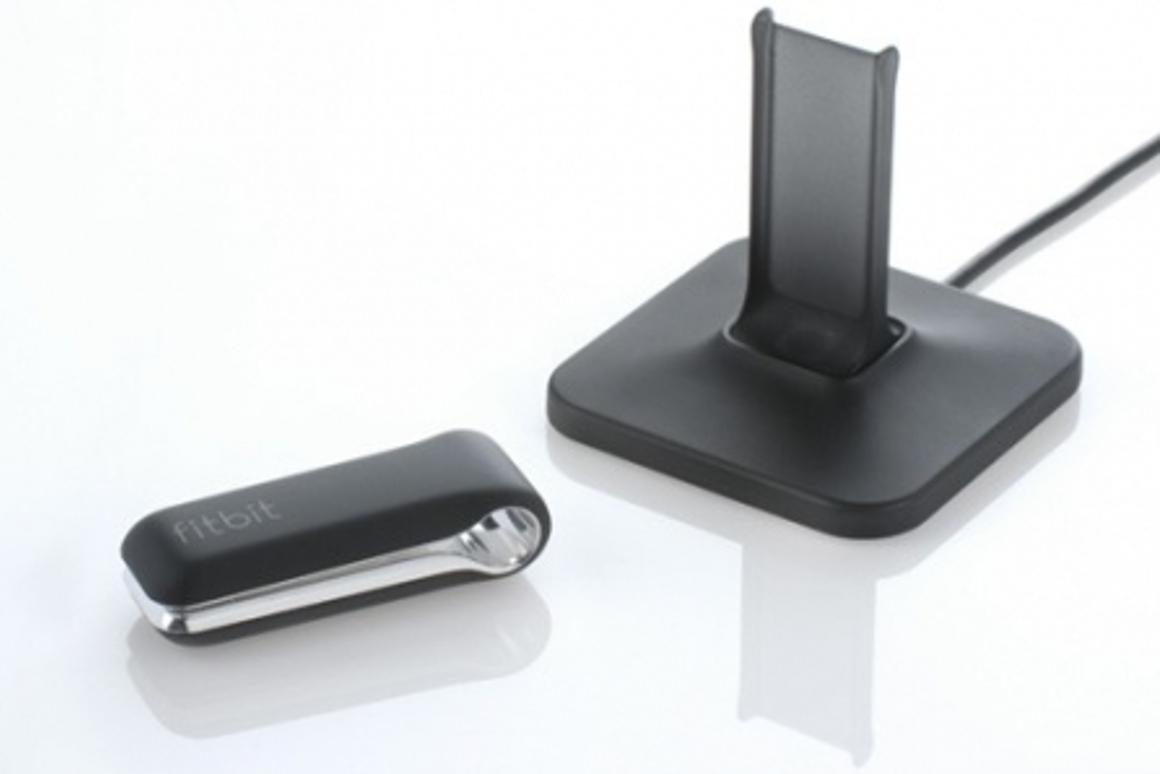 The Fitbit personal activity monitor and base station