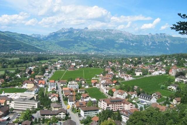 A picturesque mountain village in Liechtenstein