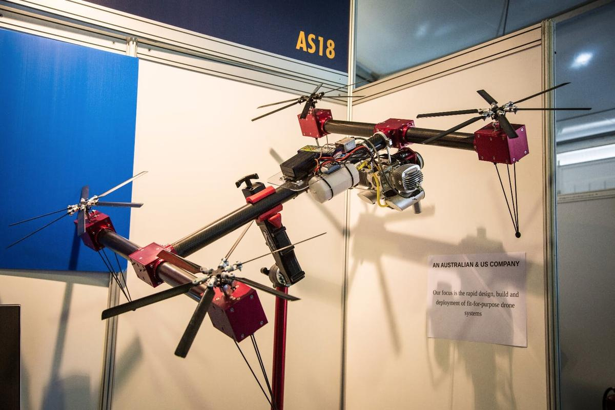 SOAPdrones variable pitch petrol-powered quadcopter offers long endurance and heavy lift capability