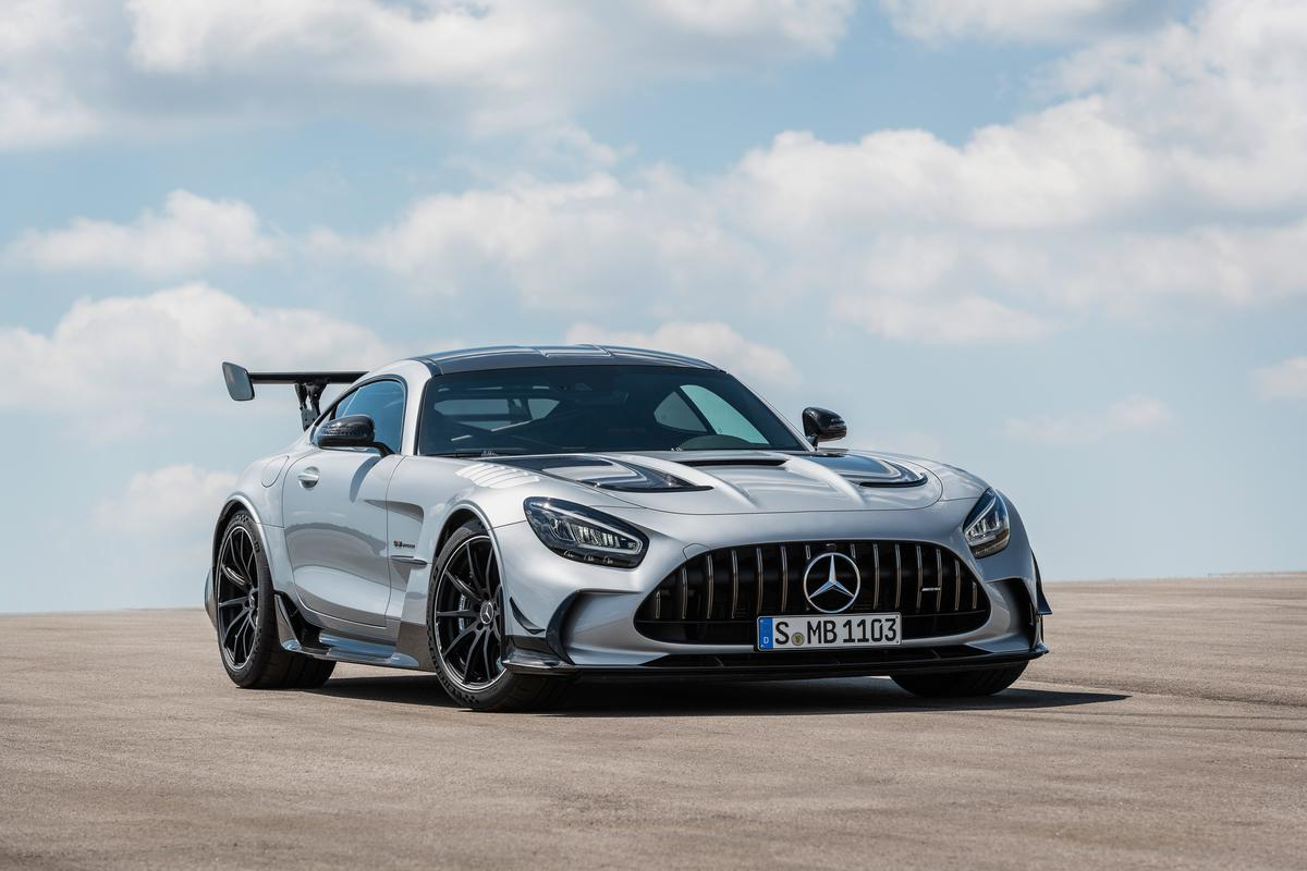 The 730-horsepower Mercedes-AMG GT Black Series is an absolute track scorcher just legal enough for the road