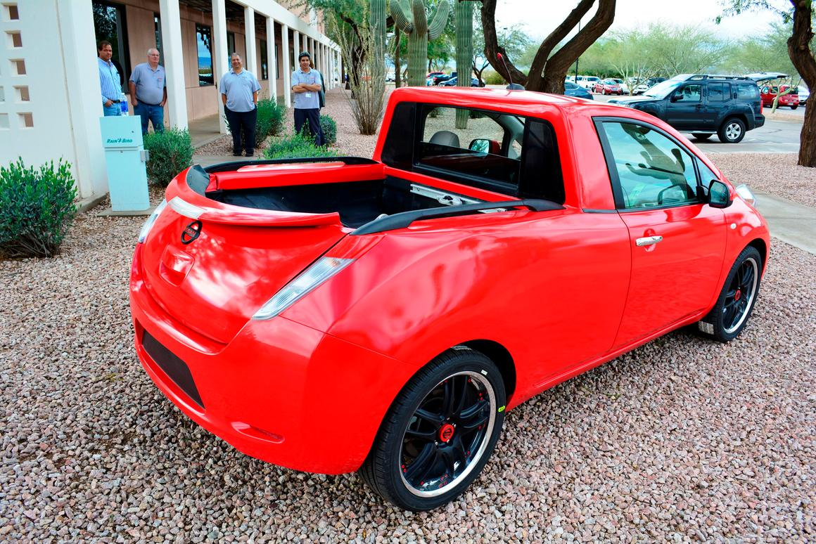 The one-of-a-kind Leaf pickup truck created at Nissan's Technical Center in Stanfield, Arizona