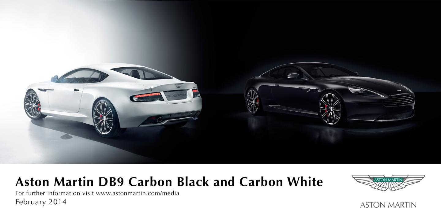 The DB9 Carbon Black and White