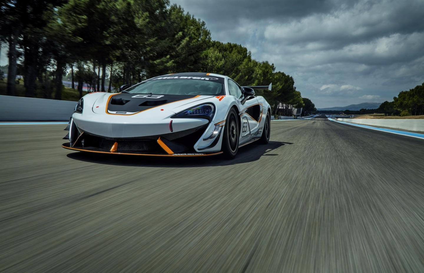 The 570S Sprint package includes a front splitter and dive planes