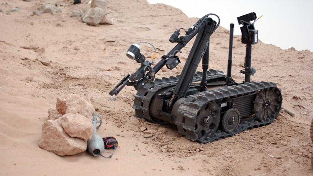 Long Distance Tele-Operation technology will allow UGVs such as the TALON robot to be controlled from great distances (Image: Sgt. Giancarlo Casem)