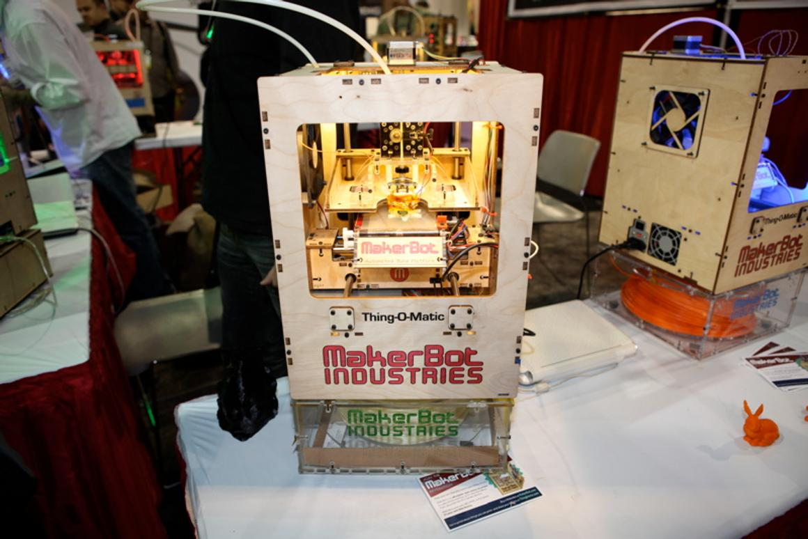 The MakerBot Thing-O-Matic 3D printer