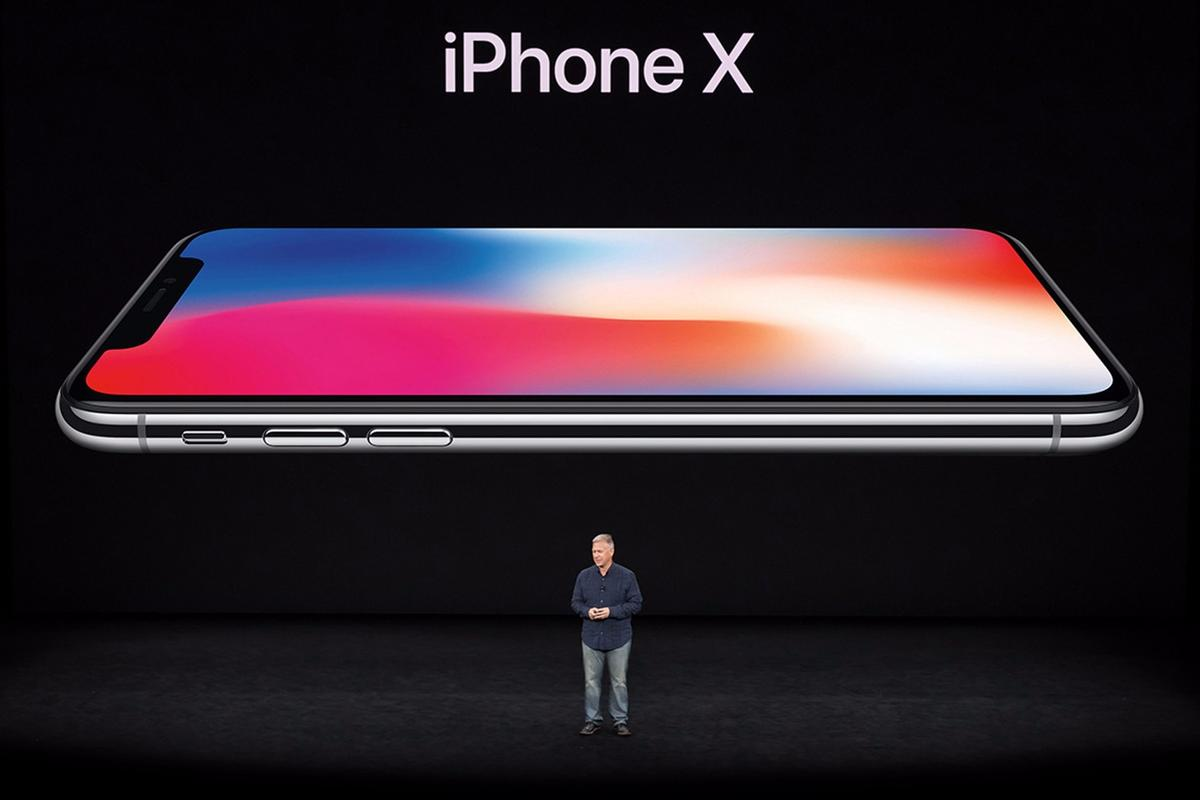 The iPhone X is revealed in Steve Jobs Theater at Apple Park