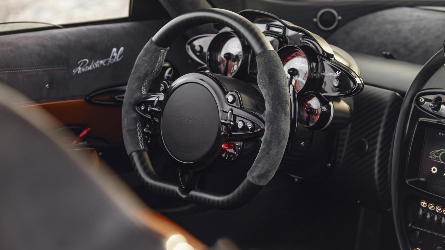 The Huayra BC Roadster's cabin