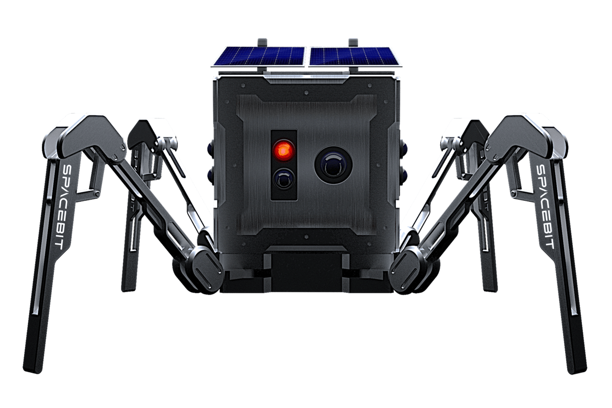 Spacebit's Walking Rover is designed to walk and even jump in the low lunar gravity