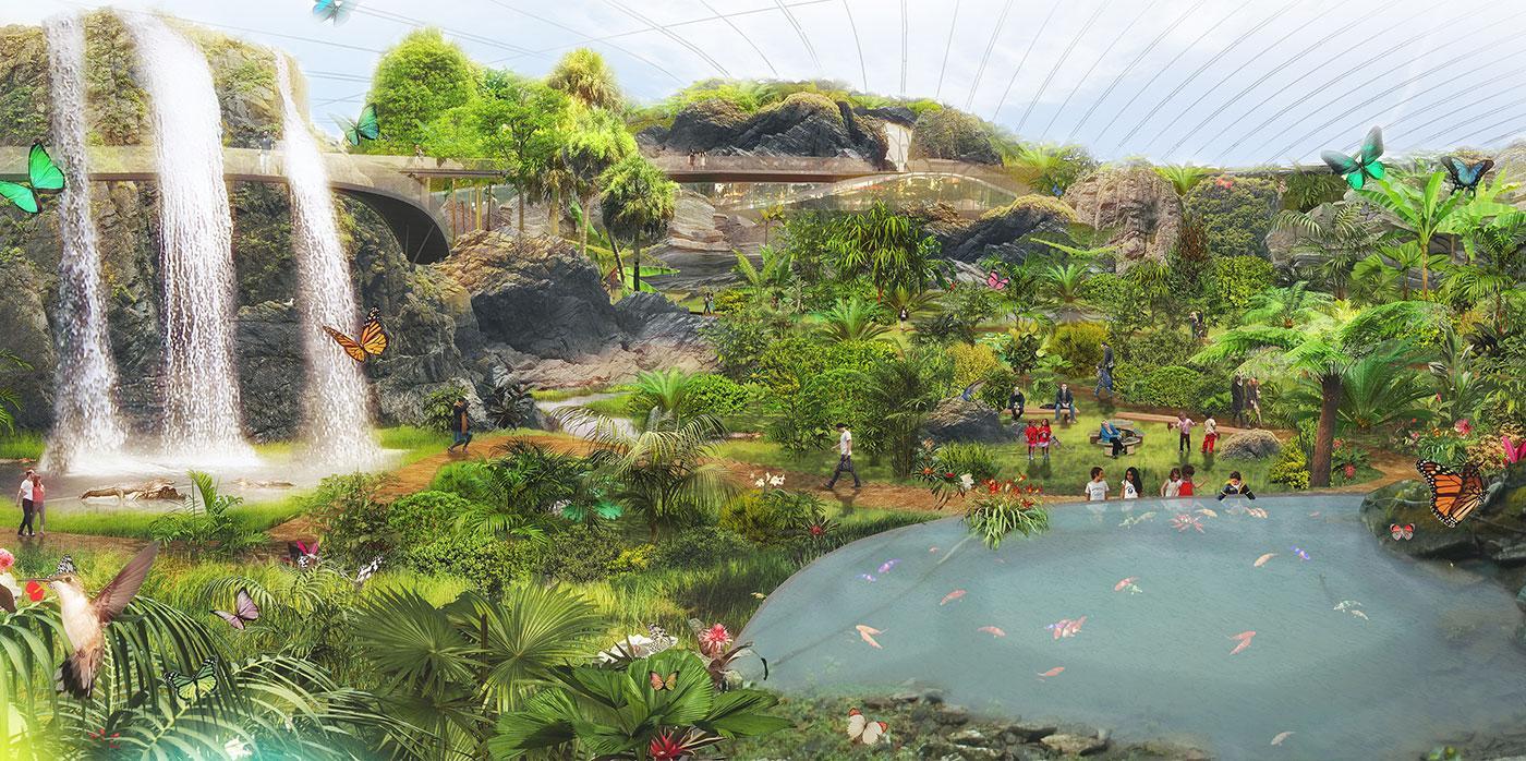 Tropicalia will measure 20,000 sq m (215,278 sq ft)