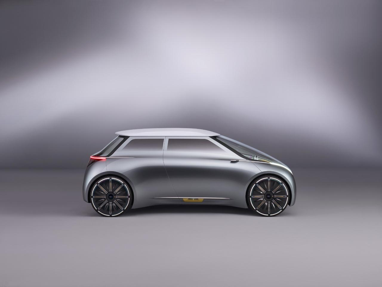 The Mini Vision Next 100 is a city car focused on urban driving and car sharing