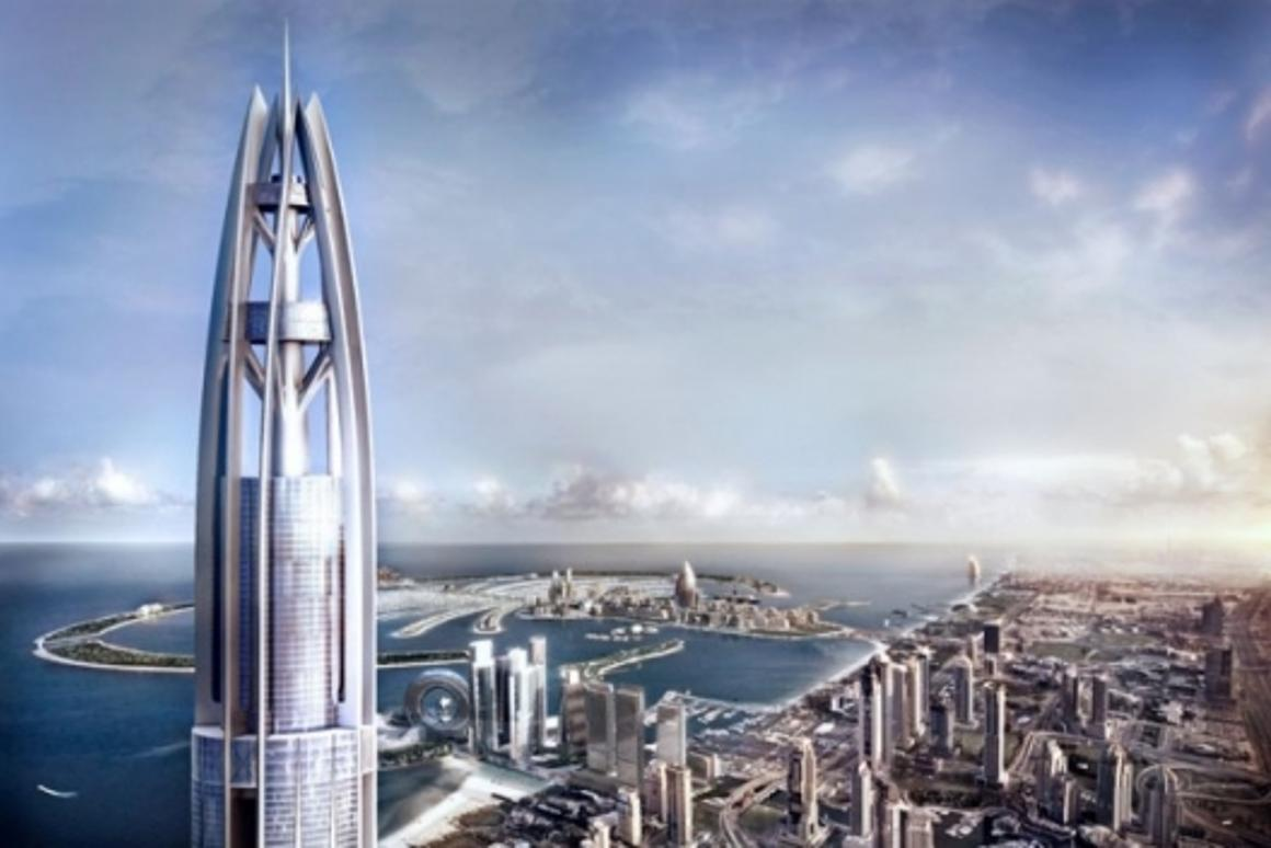 Artists impression of the view from the 1 kilometer high towerImage: Nakheel