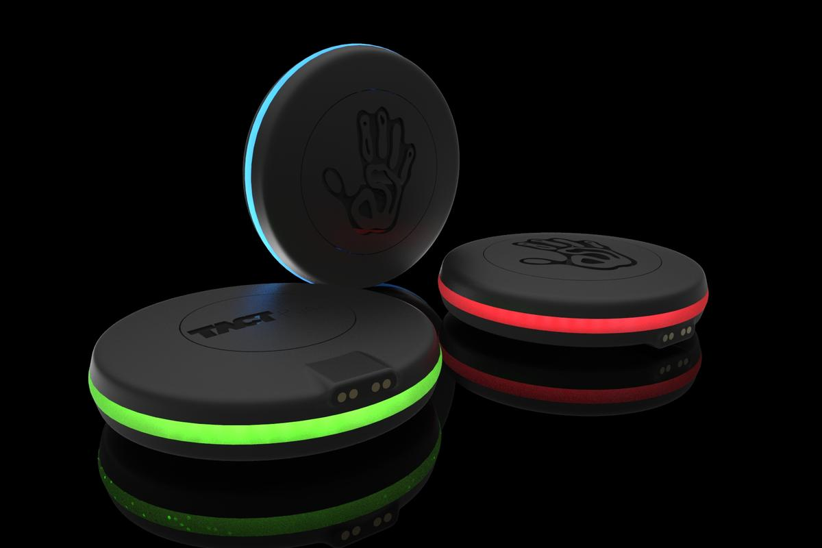 The TactPuck is intended to offer a variety of sensory experiences, including vibration, illumination and hot/cold sensation