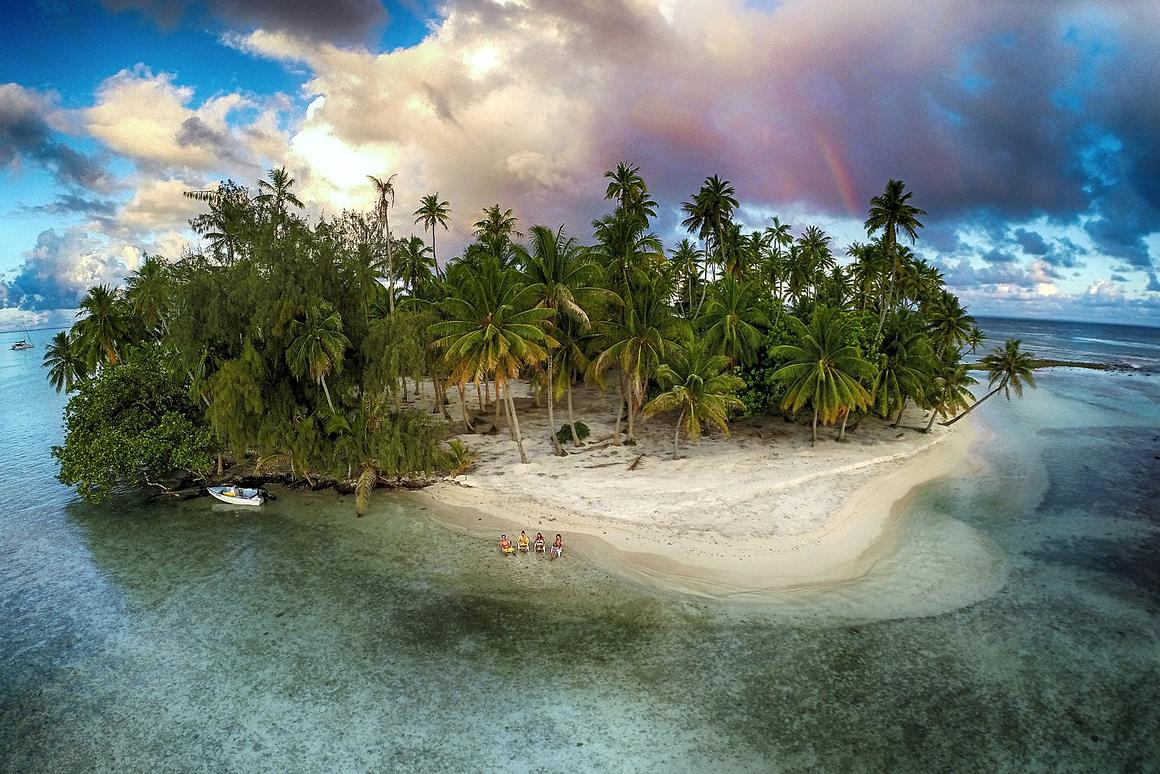 An amazing photo of this tropical island in French Polynesia won third prize in the Nature category