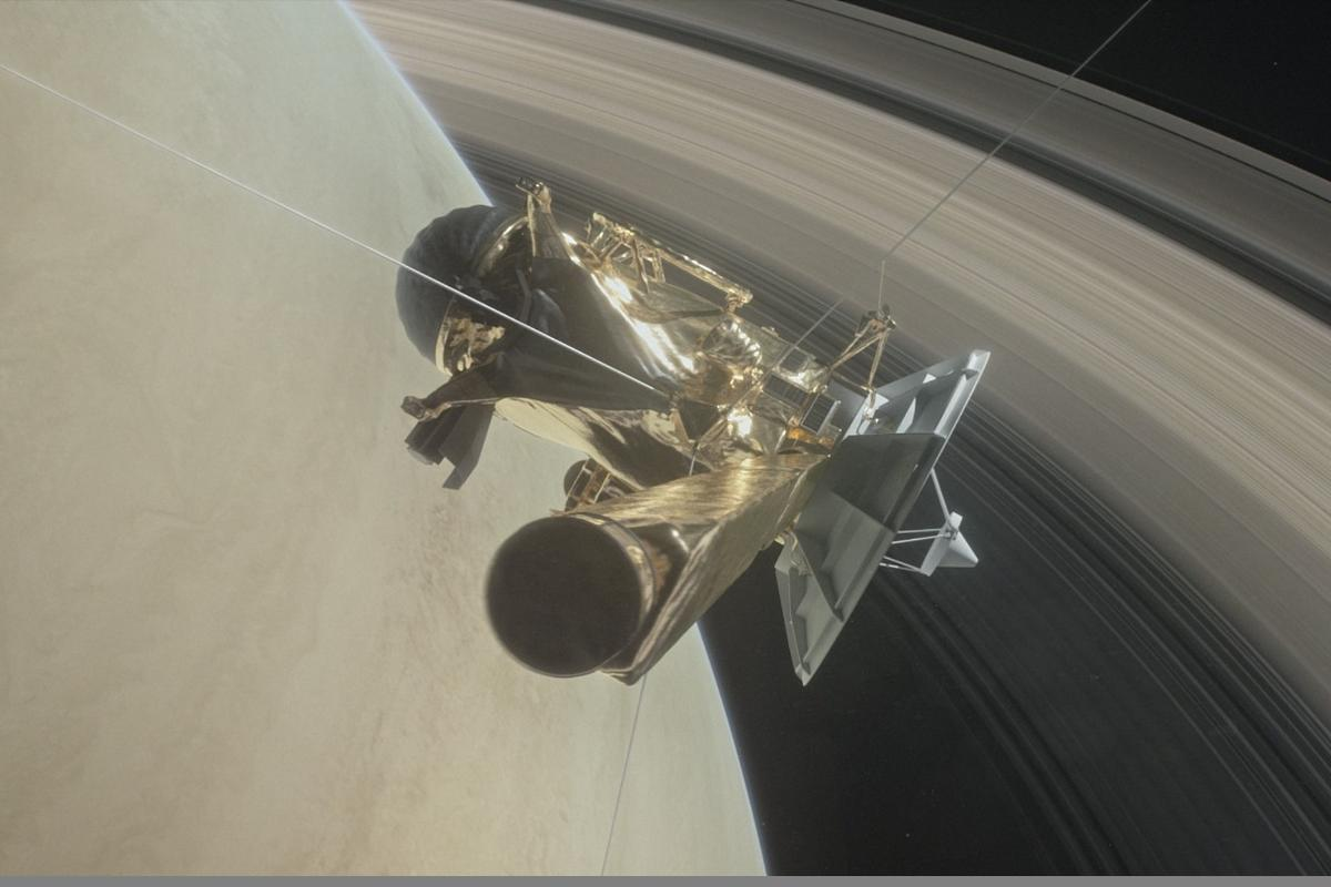 Artists impression of the Cassini spacecraft