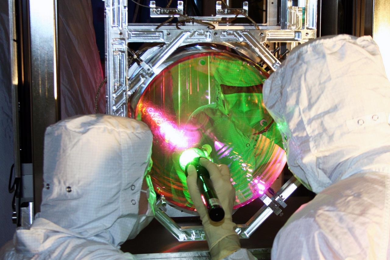 One of the mirrors in LIGO, which have now become the largest objects to have their atoms cooled to almost a motional ground state