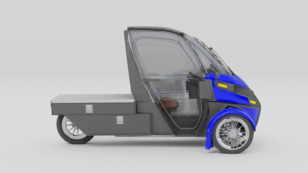 Concept sketch of the Deliverator, with doors butminus the Cargo Cube
