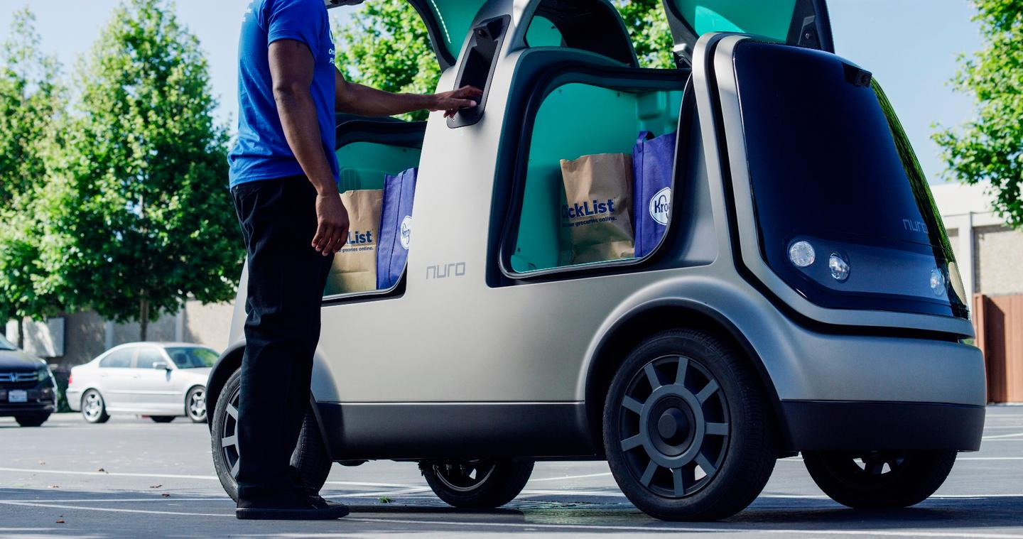 This kind of unmanned grocery delivery system will be tested later this year