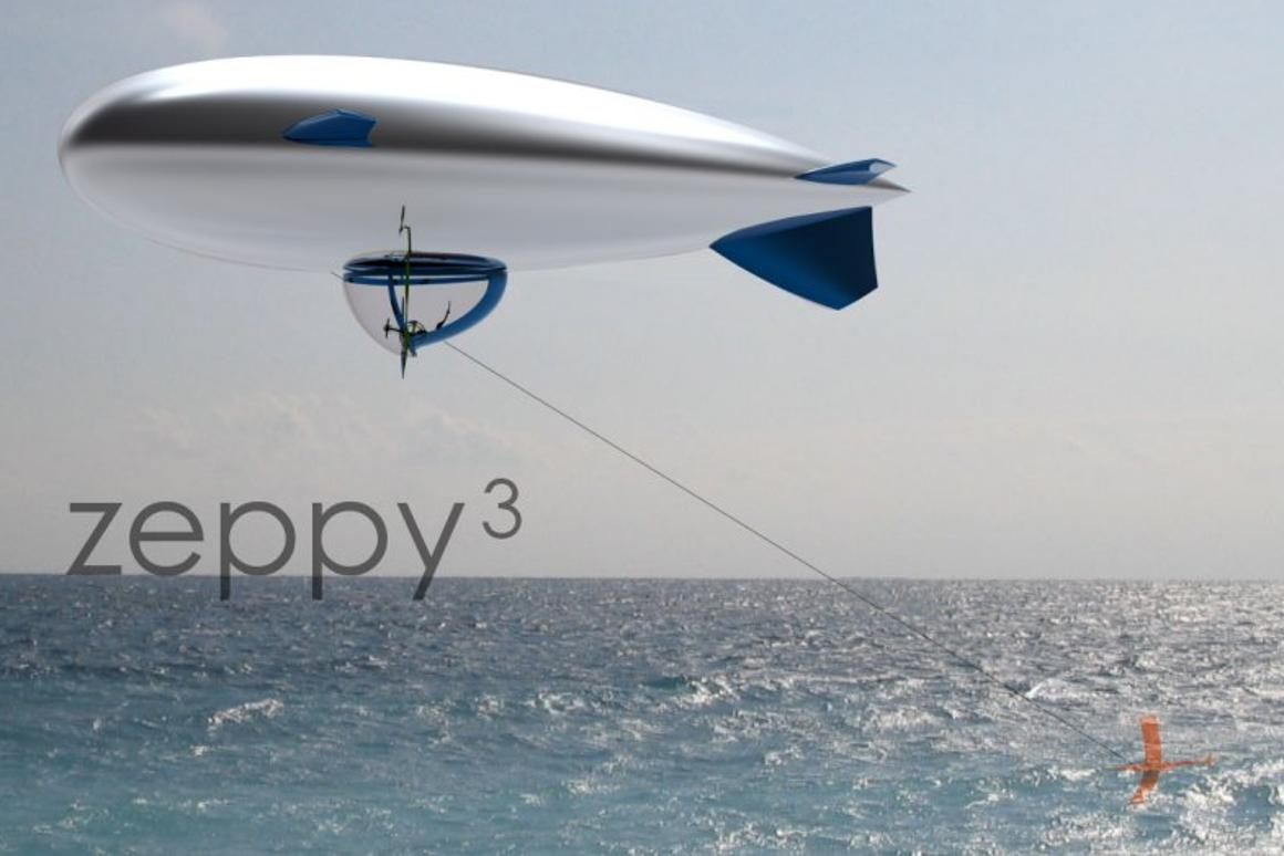 Zeppy 3 will shortly sail across a stretch of Mediterranean waters using only the power of the wind and a curved carbon foil based on the chien de mer by Didier Costes
