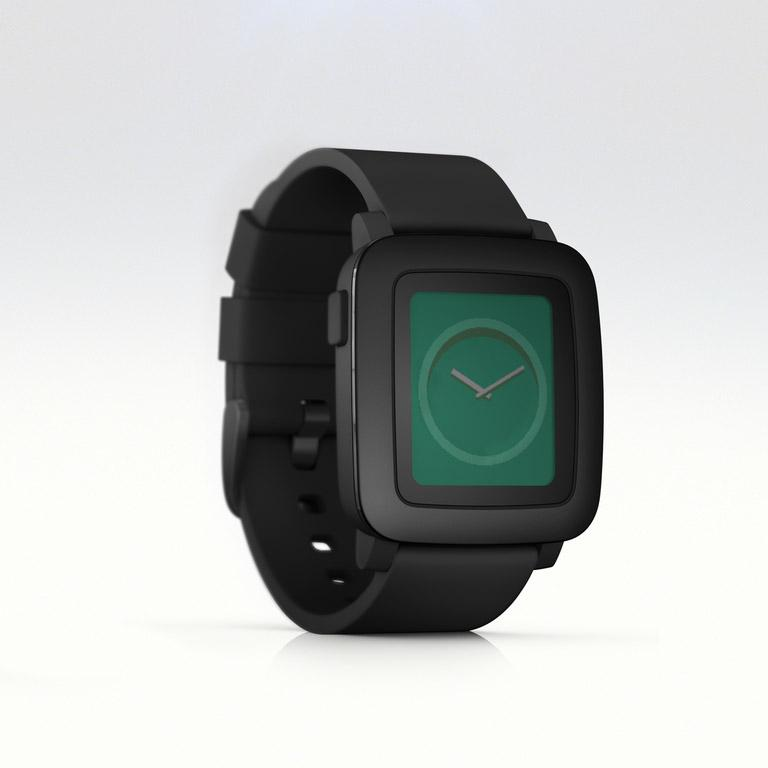 The black version of Pebble Time