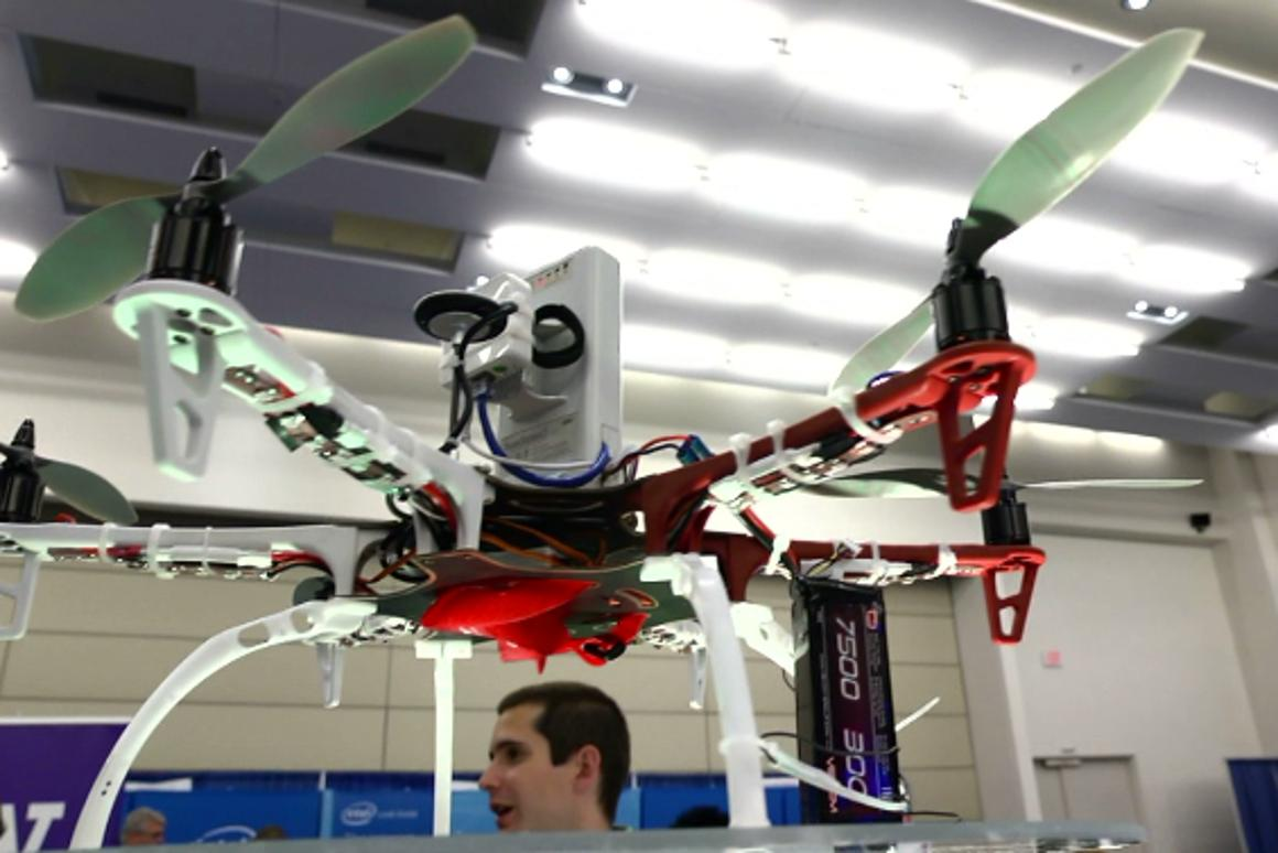The Wi-Fi range-extending drone developed by UNT researchers